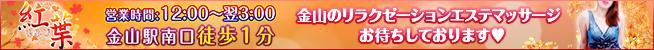 紅葉〜もみじ 金山のリラクゼーションエステ・マッサージ